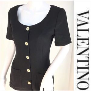 Vintage Valentino Short Sleeve Business Top